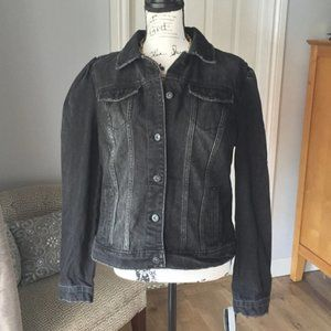 INC Jean Jacket dark grey size large